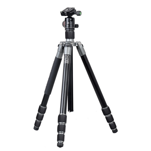 Kingjoy A62 Aluminum Foldable Tripod with T11 Low Profile Ball Head