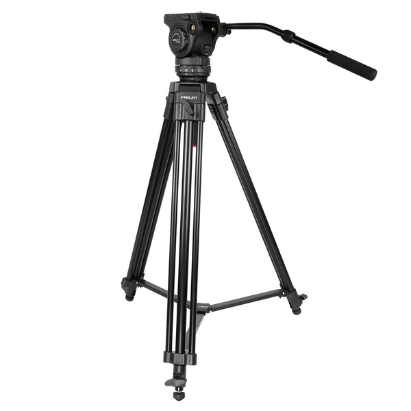KINGJOY 3 section professional  heavy duty video tripod VT-2100L with fluid damping head VT-3550 for camcorder