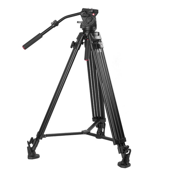 Kingjoy Professional Video Tripod,  heavy Duty Tripod System VT-3500 with 360-Degree Panoramic Fluid Head VT-3530