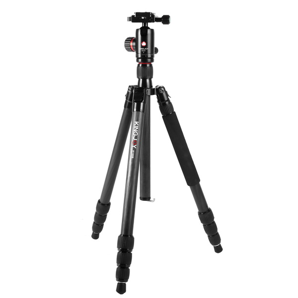 KINGJOY Kingjoy K1208 Travel Series Carbon Fiber Tripod with QH10 Ball Head