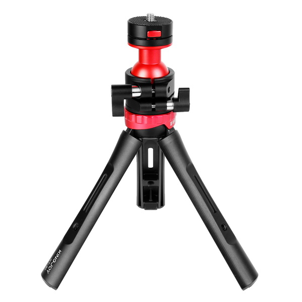 KINGJOY KINGJOY New Aluminum Wearable Tabletop Tripod KT-60 with Adjustable Angle and Mobile Clamp Design for Selfie Shooting