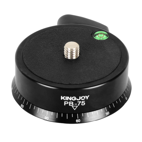 KINGJOY  Kingjoy PB-75 360 Degree Rotating CNC Machining Aluminum Panoramic Camera Head