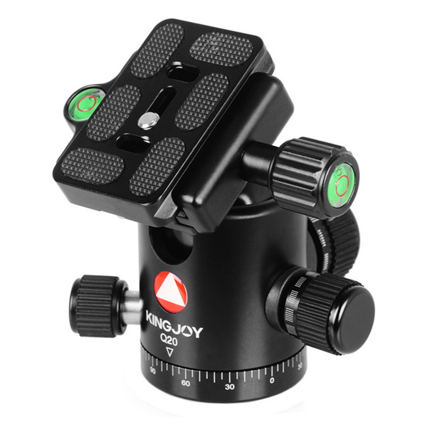 KINGJOY KINGJOY Professional CNC Machined Anodized Metal 360 degree Rotation Damping Camera Ball Head Q20