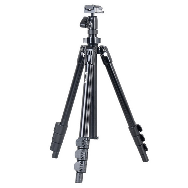 KINGJOY Kingjoy SF046 4 sections foldable flip lock camera photo Tripod Kits with low angle shooting and center column can be used as monopod