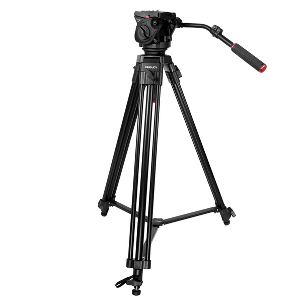 KINGJOY KINGJOY 3 section professional  heavy duty video tripod VT-2100L with fluid damping head VT-3530 for camcorder