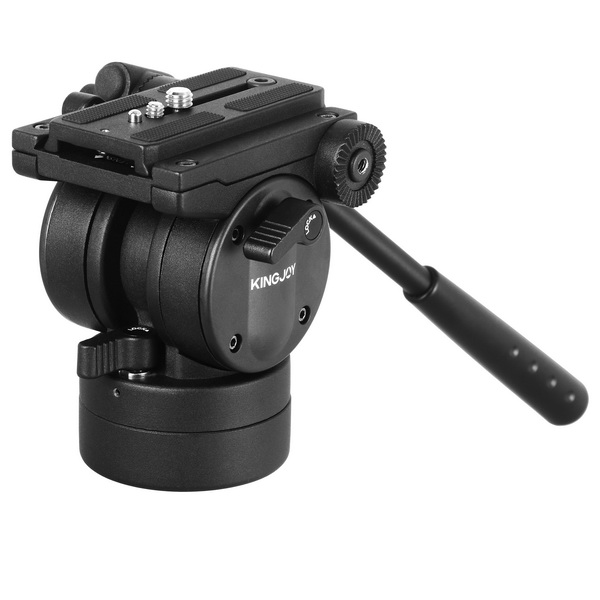 KINGJOY KINGJOY VT-2510 Video Fluid Head Hydraulic Damping Tripod Ball Head with 1/4