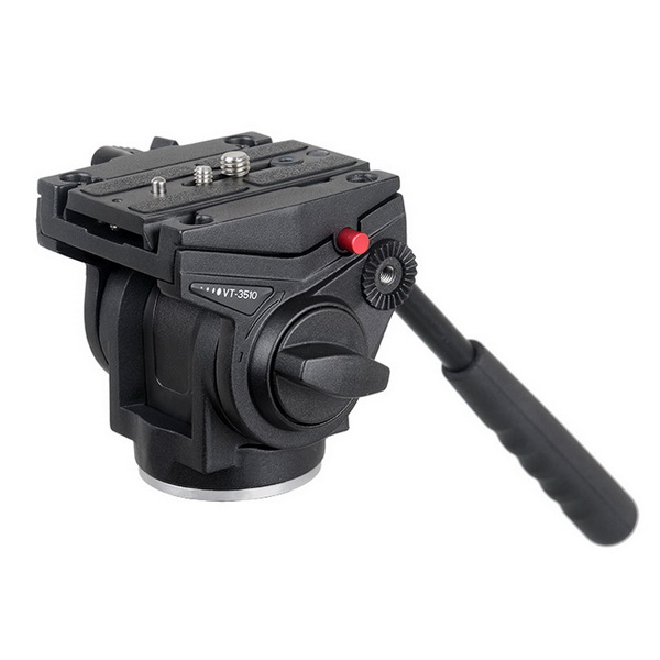 KINGJOY KINGJOY VT-3510  heavy Duty Video Camera Tripod Fluid Drag Pan Head with Sliding Plate 1/4